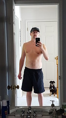 selfie (Rockin' KE) Tags: dogs fitness men me mirror selfie shirtless shorts tmi
