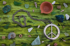 Peace (Theresa Best) Tags: peace ammonite crystal shell rock green bright photography theresa best sprouting visions theresabest fmsphotoaday fmspeace sproutingvisions