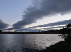 Clouds after sunset over Yerrabi Pond & Mirrabei Drive dam (spelio) Tags: act canberra 2016 lake pond water clouds sky gloom dusk