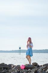 Lacus Clyne (without PS) (bdrc) Tags: asdgraphy lacus clyne gundam seed anime cosplay girl portrait sea beach coast shore bella haro sepang avani water rocks minolta 75300mm f4556 tele zoom sony a6000 alpha