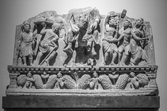 Relief (K.G.Hawes) Tags: chazenmuseumofart art history historic historical india indian sculpture statuary statue statues relief stone carved carving religious religion black white bw monochrome monochromatic