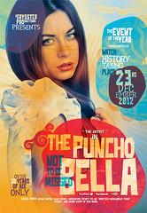 PunchoBella_Flyer (grydster1) Tags: film modern photoshop vintage dark poster flyer eerie fresh retro indie western template quirky alternative customised editable