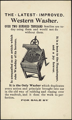 The Fort Wayne improved western washer - the latest improved western washer [back] (Boston Public Library) Tags: people cats laundry appliances advertisingcards