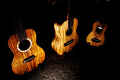 3 Ukes (Grim Weaver) Tags: wood music guitar strings tunes instruments