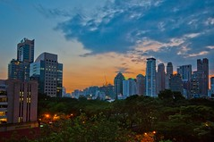 Bangkok sunset (James Waghorn) Tags: city sunset sky tree clouds thailand evening nikon glow view bangkok explore ultrawide sigma1020 d5000 blinkagain bestofblinkwinners blinksuperstars