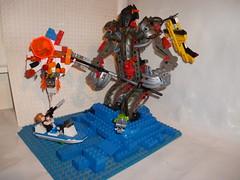 rise of the argothan (the lordimaginator) Tags: lego battle scene scifi bionicle epic moc lordimaginator