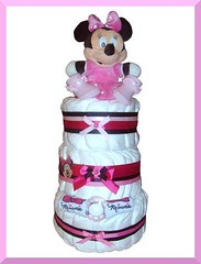 Minnie Mouse Nappy Cake (5) (Labours Of Love Baby Gifts) Tags: babygift nappycake nappycakes newbabygifts laboursoflovebabygifts
