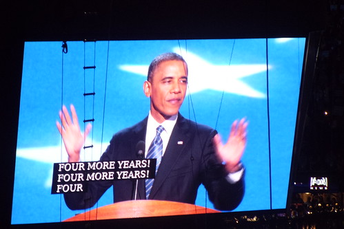 Obama Screen at DNC 2012