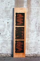 08950012-16 (jjldickinson) Tags: wood print cherry concrete parkinggarage carving longbeach card printmaking olympusom1 woodblock fujicolorsuperiaxtra400 mokuhanga laserengraving promastermcautozoommacro2870mmf2842 promasterspectrum772mmuv kilroyairportcenter roll395