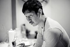 The husband cooks on Tuesdays. (Nazra Zahri) Tags: bw man home kitchen japan asian japanese 50mm nikon raw husband nikkor okayama 2012 50mmf14d d700