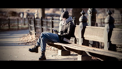 Waiting for the phone to ring  Explore #254 (Orione59) Tags: street nyc urban laura photography bokeh centralpark candid streetphotography cinematic livorno ef135mmf20 5dmk3 orione1959 orionephotographer