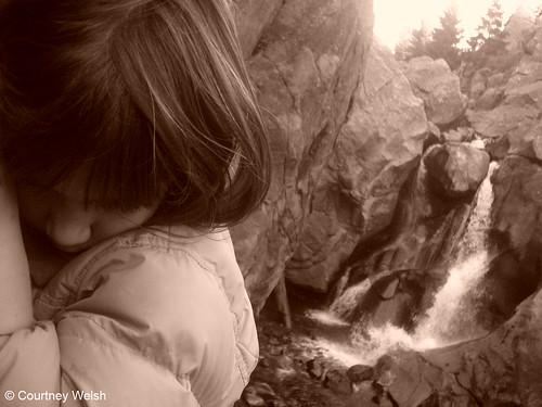 Photo - Holdin' on at Boulder Falls