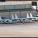Line-up of F-15C's.
