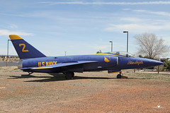 "Grumman F11-F Tiger ""Blue Angel #2"" (PhantomPhan1974 Photography) Tags: arizona museum boneyard relics warbird planesoffame valleairport"