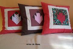 Almofada Tulipa (MANABR) Tags: sala patchwork em decorao tecido almofadas almofadasempatchworkalmofadas