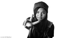 Peace (/the DON/) Tags: china christmas portrait girl kid nikon flash nikkor 2012 jalen strobist yongnuo d7000 35mm18g bwguangzhou