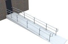 Top/Mid/Bottom ADA Railing - Ramp
