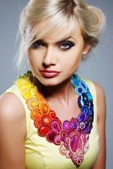RAINBOW NECKLACE - SOUTACHE (skarbynatury) Tags: charity necklace poland jewellery wop soutache sutasz