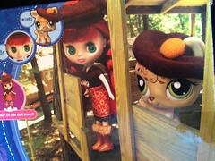 B6 1620 Blythe Loves Littlest Pet Shop Autumn Glam box front doll in treehouse (Tinker*Tailor loves Lalka) Tags: pet shop toy doll going loves blythe goodbye hasbro littlest