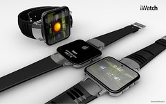 Apple iPhone-friendly Smartwatch (Photo Giddy) Tags: art apple design mac ipod watch pebble intel concept iphone ipad smartwatch timcook ipadmini ios6