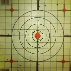 #Malikai did a fairly decent job for his first time firing a BB gun. This is from about 5 to 6 feet away. / on Instagram http://instagr.am/p/T7CYRwMmrv/ (JonZenor) Tags: photos tumblr instagram