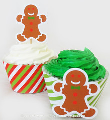 Christmas Cupcake Toppers and Wrappers (Carla Chadwick) Tags: gingerbreadmen cupcaketoppers cupcakedecorations cucapkewrappers