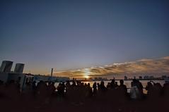 sunrise (turntable00000) Tags: new morning cloud japan sunrise photography tokyo glow sony year 365   minato takashi takeshiba nex    kitajima 2013 turntable00000
