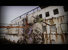 Blackduke Project (annar_50) Tags: art abandoned ferry effects graffiti boat ship ghost duke crew lancaster colored flintshire northwales mostyn fatheat blackduke dudugcouk