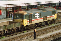 19910413 007 Clapham Junction. Intercity Executive Liveried BR Class 73, 73114 Shunts GRAMPUS Wagons (15038) Tags: br trains locomotive railways britishrail claphamjunction class73 electrodiesel 73114