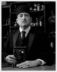 """The Strange Case of Mr. Anon"" (photo_secessionist) Tags: fiction portrait bw film analog vintage blackwhite bn story fez imagination 4x5 delta100 ilford disappearance orderofphotographersoftheitinerantfez"