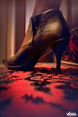 A WOMAN OF SECRET - PART ONE (Emmanuel VASSAL) Tags: red woman paris fashion stairs carpet shoe shoes lifestyle tapis pointe escalier parisian bottes chaussure