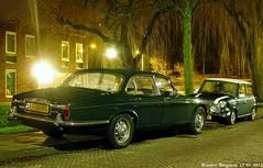 Daimler Double Six V12 1974 & Mini 1000 Mayfair 1986 (XBXG) Tags: auto old uk classic haarlem netherlands car vintage 1974 automobile nederland mini voiture double british 1986 six mayfair paysbas 1000 daimler ancienne brits v12 doublesix mini1000 daimlerdoublesix anglaise pk47zg spgb05