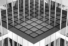 Sixteen Times Four (gordeau) Tags: windows bw abstract reflection squares many symmetry gordon ashby flickrchallengegroup flickrchallengewinner thechallengefactory thepinnaclehof kanchenjungachallengewinner kanchenjungawinner gordeau tphofweek188