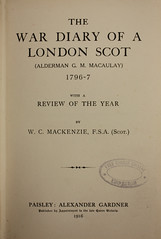War Diary of a London Scot (Simon Leach 2012) Tags: macaulay bowyers bowyerscompany gmmacaulay aldernan