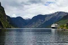 The fjord in to Flm. (Vidar Ringstad,Skedsmo) Tags: sea summer sky snow water norway clouds canon eos norge europa sommer norwegen 7d fjord scandinavia vann flm skyer fjell sn montains vestlandet sj sognefjorden flaam westofnorway flickrunitedaward blinkagain me2youphotographylevel1 creativephotocafe besteverdigitalphotography