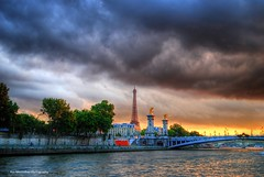 sunset views on the seine (Rex Montalban Photography) Tags: sunset paris france europe hdr laseine rexmontalbanphotography