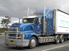 Demorange Kenworth T608 (KW BOY) Tags: tractor truck prime highway transport australian semi truckstop lorry rig hauling express bp hume conventional mover trucking kw drt kenworth haulage 2013 refridgerated t608 demorange