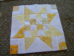 yellow patchy stars (CeLynn Peeler) Tags: stars star quilt squares year moms jar lovely granny scrap patchy finishes a