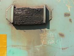john easley and stapled wood (httpill) Tags: railroad streetart art train john graffiti streak tag graf railcar boxcar coal streaks railways freight easley monikers moniker coaltrain hobotag hobomoniker hoboart benching johneasley paintsticks boxcarart oilbars freighttraingraffiti markals