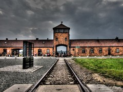 Train track of death at Birkenau (Maurizio Crespi) Tags: camp canon concentration holocaust poland powershot auschwitz birkenau s95 60225mm