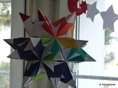 Bascetta Star with Rainbow Colours (petuniad) Tags: bascetta paperworkmodular origamifaltenpapier