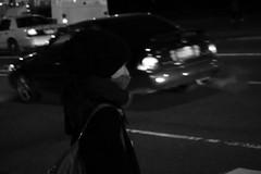 Cold Black Night (rockerlan) Tags: street nyc winter newyork cold car photo unitedstates sony nightime crosswalk rx100