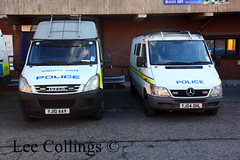 Police Vans at Millgarth Leeds (Lee Collings Photography) Tags: mercedes transport leeds police emergency westyorkshire iveco policevan emergencyvehicles emergencyservices policevehicles westyorkshirepolice leedscitycentre policetransport millgarth ivecopolicevan emergencyservicevehicles publicordervan mercedespolicevan ivecopolicevehicles mercedespolicevehicles westyorkshireemergencyservices