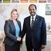 Justine Greening and President Hassan Sheikh Mohamud of Somalia