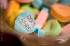 Soul Mate (Images by April) Tags: macro canon hearts candy valentine valentinesday soulmate conversationhearts holdhands 550d t2i