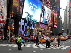Disney and Forever 21 (jeffmgrandy) Tags: manhattan midtown timessquare times bustling crowd billboard