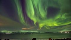 silent song of the Arctic region (lunaryuna (travelling for a week)) Tags: norway tromsfylke arcticregion nordlenangen landscape seastrait lenangenstraumen mountainrange winter season seasonalwonders sky nightsky starrynight nightphotography nocturnalphotography auroraborealis nordlichter northernlights lunaryuna