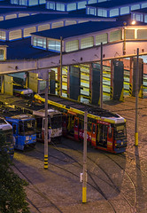 Zajezdnia Obin (Bless your life) Tags: poland polska wrocaw wroclaw nadorze obin architecture architektura tram tramwaj night city
