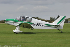 G-FEEF - 1966 Centre Est built Jodel DR220, arriving at Sywell during the 2014 LAA Rally (egcc) Tags: 14 22 2014laarally cea centreest dr220 egbk fbocf fifi gfeef jodel laarally lightroom northampton orm sywell walker