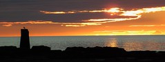 Shoreline Sunrise - St. Mary's Island (Gilli8888) Tags: whitleybay sunrise lighthouse stmaryslighthouse tyneandwear dawn clouds sky light batesisland coast eastcoast northsea coastline seascape silhouette